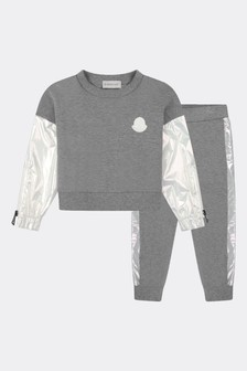 Moncler Enfant Girls Grey Cotton Tracksuit