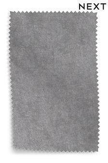 Antique Velvet Light Grey Upholstery Fabric Sample