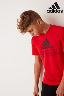 adidas Performance Red Training T-Shirt