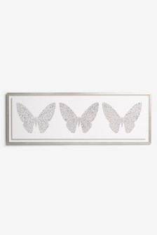 Large Diamond Butterfly Canvas