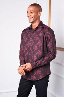 Regular Fit Floral Jacquard Shirt