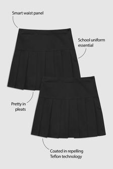 מארז שתי חצאיות קפלים (גילאי 3 עד 16)