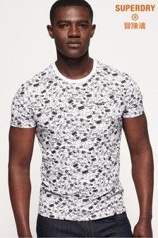 Superdry All Over Print Lite New House Rules T-Shirt