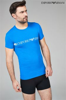 Emporio Armani Blue Logo T-Shirt