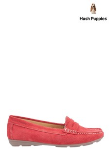 Hush Puppies Red Margot Slip-On Loafers