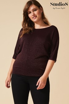 Studio 8 Bronze Frances Shimmer Knit Jumper