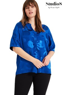 Studio 8 Blue Annie Spot Top