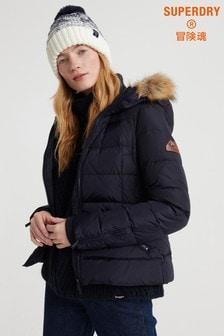 Superdry Premium Down Short Faux Fur Jacket