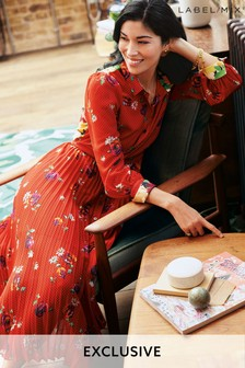 Mix/Caroline Issa Floral Shirt Dress