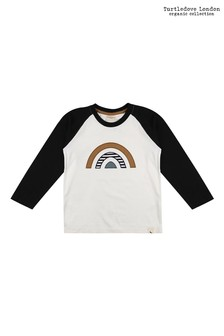 Turtledove London Raglan Rainbow Appliqué Mono Top