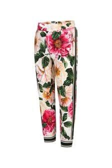 Dolce & Gabbana Kids Dolce & Gabbana Girls Pink Cotton Joggers