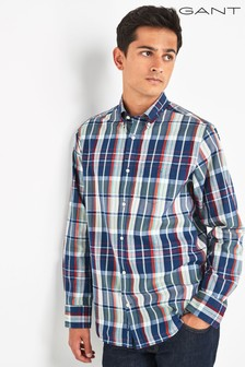 GANT Green Tech Prep Madras Regular Shirt