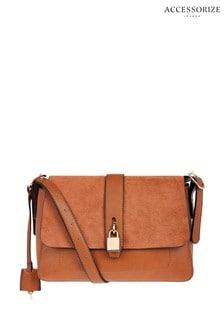 Accessorize Tan Millie Lock Shoulder Bag