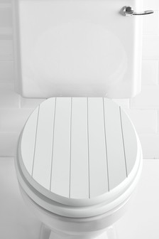 wooden white toilet seat. Groove Toilet Seat Seats  Soft Close Wooden Next UK