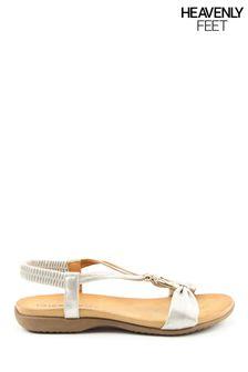 Heavenly Feet Campari Ladies White/Silver Sandals
