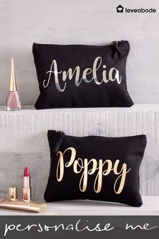 Personalised Small Make Up Bag by Loveabode