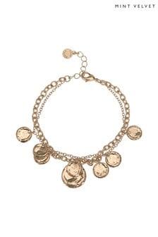 Mint Velvet Gold Layered Charm Bracelet