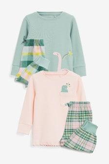 2 Pack Dinosaur Pyjamas (9mths-8yrs)