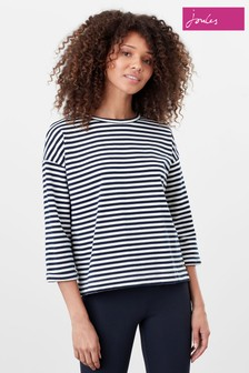Joules Blue Livia Drop Shoulder Jersey Top