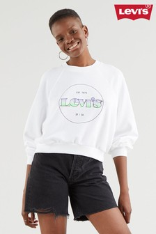 Levi's® White Modern Vintage Circle Logo Sweater