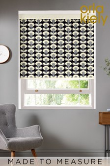 Oval Flower Cool Grey Made To Measure Roller Blind by Orla Kiely