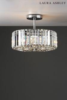 Chrome Fernhurst 3 Light Art Deco Ceiling Light