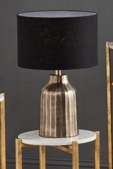 Valand Antique Silver Textured Metal Table Lamp by Pacific Lighting
