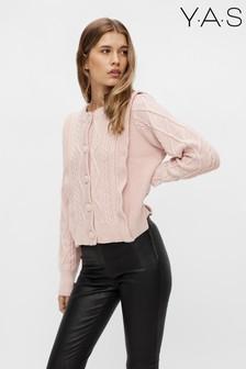Y.A.S Pink Blura Knit Cardigan