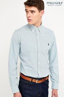 Polo Ralph Lauren Golf Green Mini Check Shirt