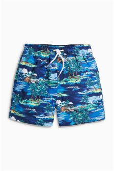 Hawaiian Print Shorts (3mths-16yrs)