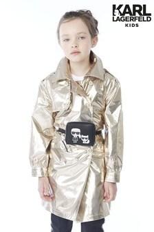 Karl Lagerfeld Gold Foil Coat