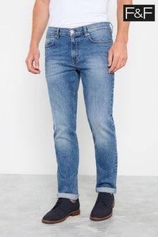F&F Mid Wash Slim Jeans
