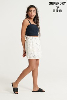 Superdry Ellison Textured Lace Skirt