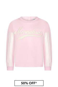 Monnalisa Girls Pink Cotton Sweat Top