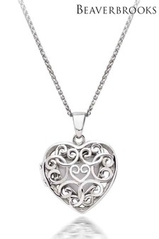 Beaverbrooks Silver Heart Locket Pendant