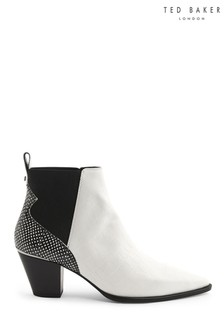 Ted Baker White Chelsea Boots