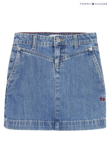 Tommy Hilfiger Blue Denim Skirt
