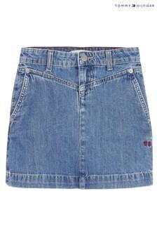 Tommy Hilfiger Blue Denim Skirt