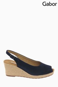 Gabor Tandy Bluette Suede Slingback Sandals