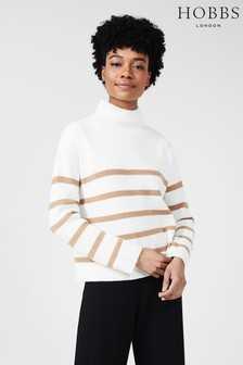Hobbs Brown Fearne Stripe Sweater