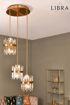 Libra Set Of Three Crystal Pendant Lights