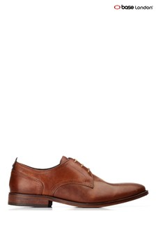 Base London® Tan Hammond Burnished Lace-Up Shoes