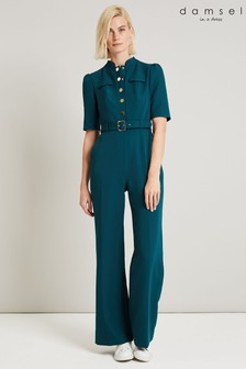 Damsel In A Dress Green Annika Military Jumpsuit
