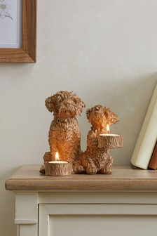 Charlie The Cockapoo Resin Tealight Holder