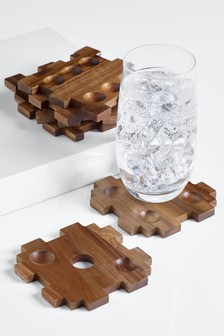 Dice Puzzle Coasters