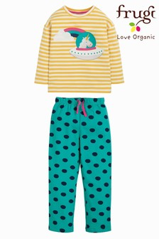 Frugi Organic Rainbow and Unicorn Loungewear Set