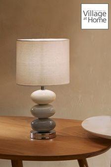 Village At Home Esme Grey Table Lamp