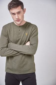 Long Sleeve Grandad Top