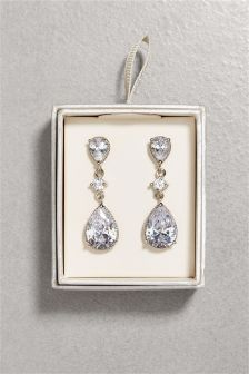 Crystal Effect Drop Earrings