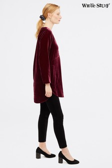 White Stuff Purple Anais Velvet Tunic